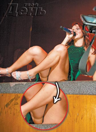 Фото певицы МакSим . МакSим вышла на сцену без трусиков